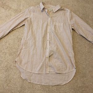Cotton button up long sleeve